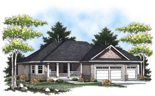Traditional Style Home Design Plan: 7-797