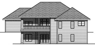 Rear Elevation Plan: 7-799