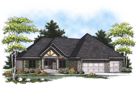 European Style Floor Plans Plan: 7-802
