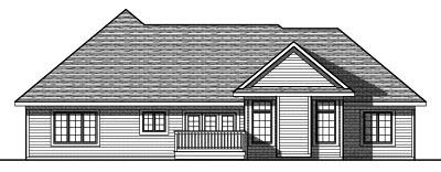 Rear Elevation Plan: 7-802
