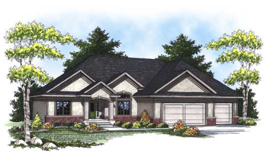 Traditional Style Home Design Plan: 7-803
