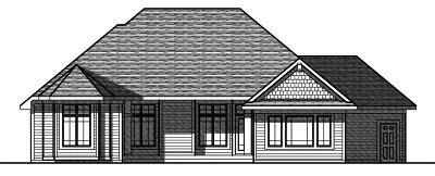 Rear Elevation Plan: 7-805