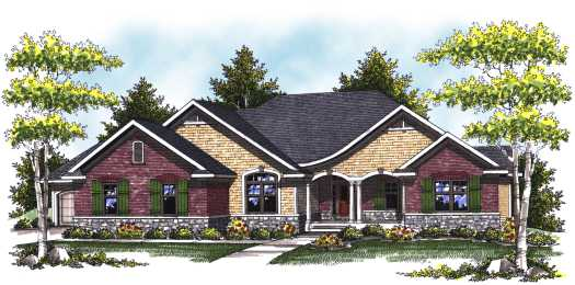 European Style Floor Plans Plan: 7-807