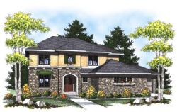 Mediterranean Style Home Design Plan: 7-811