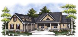 Country Style Floor Plans Plan: 7-812
