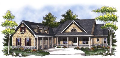 Southern Style Home Design Plan: 7-813