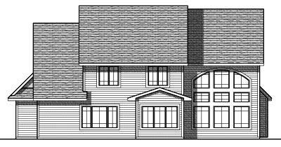 Rear Elevation Plan: 7-814