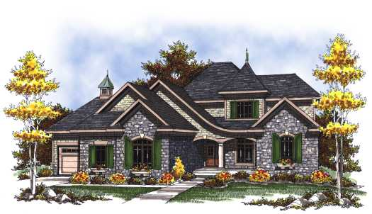 French-country Style Floor Plans Plan: 7-817