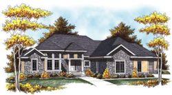 European Style Home Design Plan: 7-818