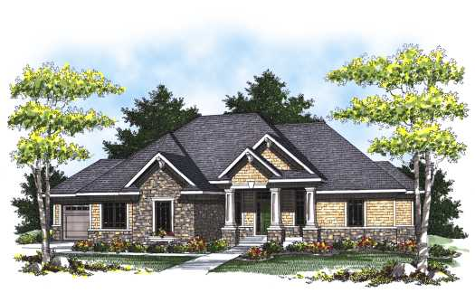 European Style Home Design Plan: 7-819