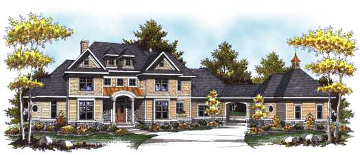Traditional Style Home Design Plan: 7-821
