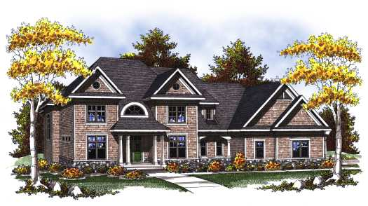 Traditional Style Home Design Plan: 7-822