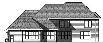 Rear Elevation Plan: 7-822
