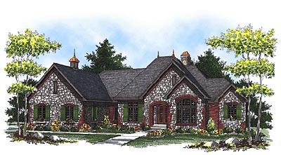 European Style Home Design Plan: 7-823