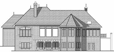 Rear Elevation Plan: 7-823