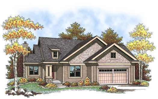 Traditional Style Home Design Plan: 7-825