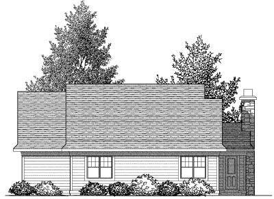Rear Elevation Plan: 7-825