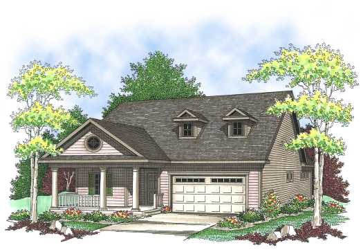 Traditional Style Home Design Plan: 7-826