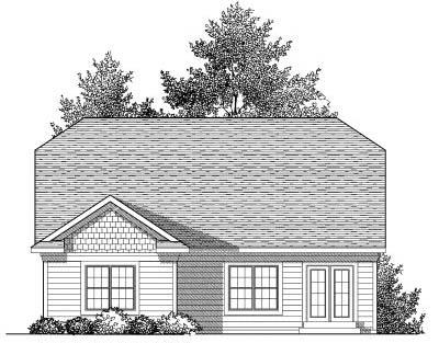 Rear Elevation Plan: 7-827
