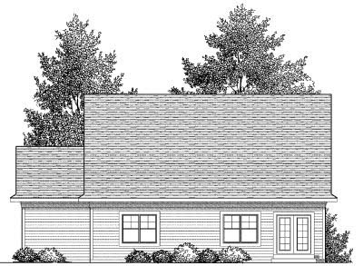 Rear Elevation Plan: 7-828