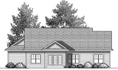 Rear Elevation Plan: 7-830