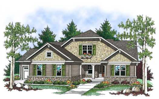 Bungalow Style Floor Plans Plan: 7-831