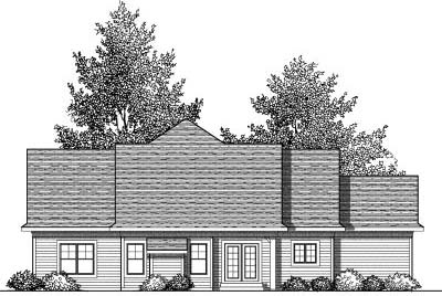 Rear Elevation Plan: 7-831