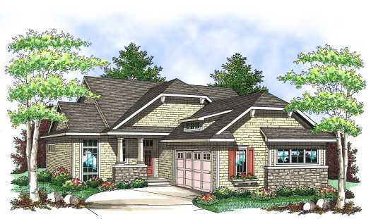 Bungalow Style House Plans Plan: 7-833