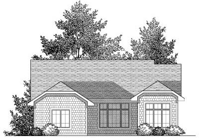 Rear Elevation Plan: 7-833