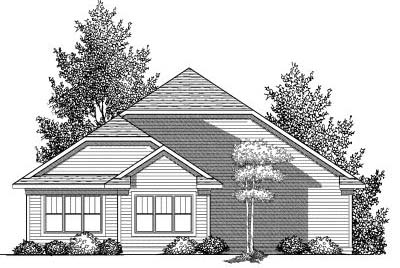 Rear Elevation Plan: 7-834