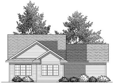 Rear Elevation Plan: 7-835