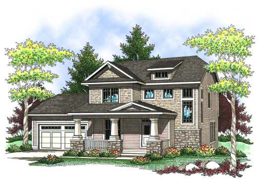 Craftsman Style Home Design 7-836