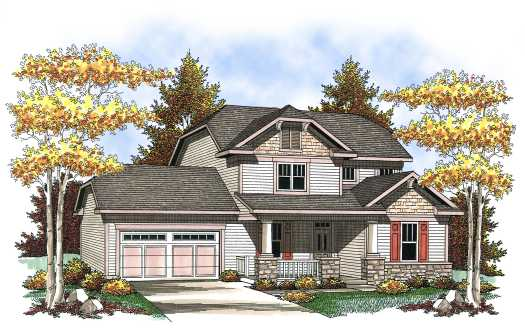 Craftsman Style Home Design 7-837