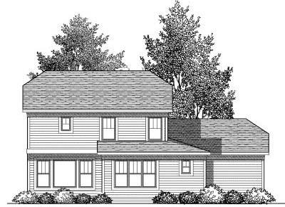 Rear Elevation Plan: 7-837