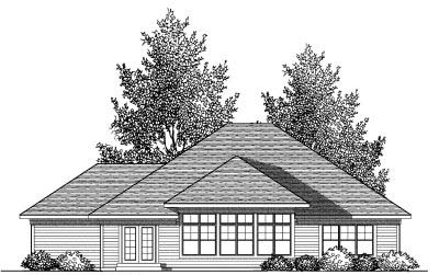 Rear Elevation Plan: 7-838