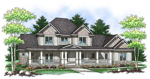Country Style House Plans Plan: 7-839