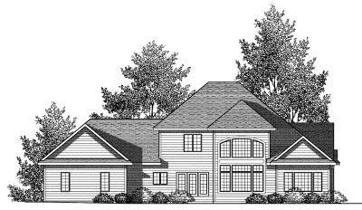 Rear Elevation Plan: 7-839
