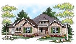 Hampton Style Home Design Plan: 7-901