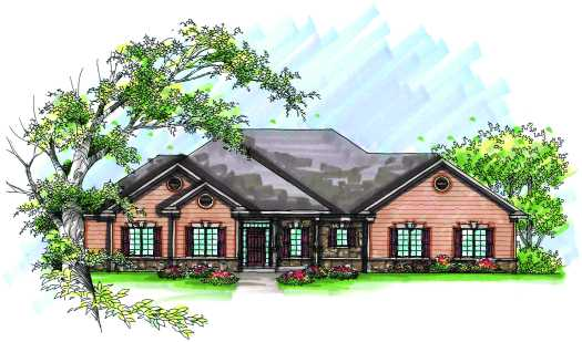 Traditional Style Home Design Plan: 7-957