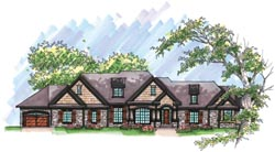 Craftsman Style House Plans Plan: 7-988