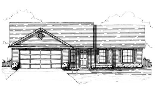 Traditional House Plan 3 Bedrooms 2 Bath 1300 Sq Ft Plan 71 117