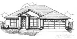 Traditional Style Home Design Plan: 71-151
