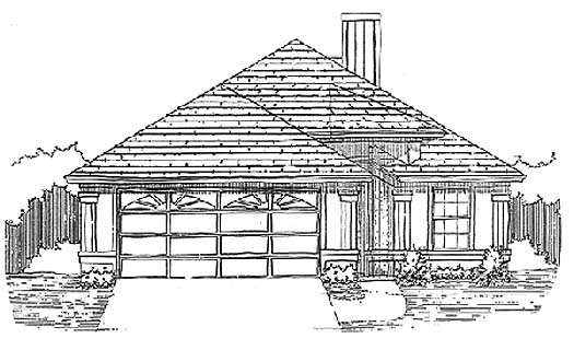 Traditional Style Home Design Plan: 71-158