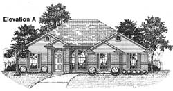 Traditional Style House Plans Plan: 71-171