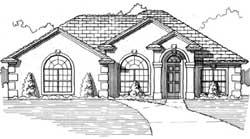 Sunbelt Style House Plans Plan: 71-176