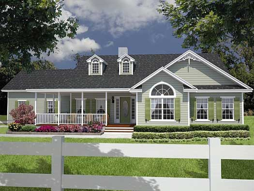 Country Style Floor Plans Plan: 71-229