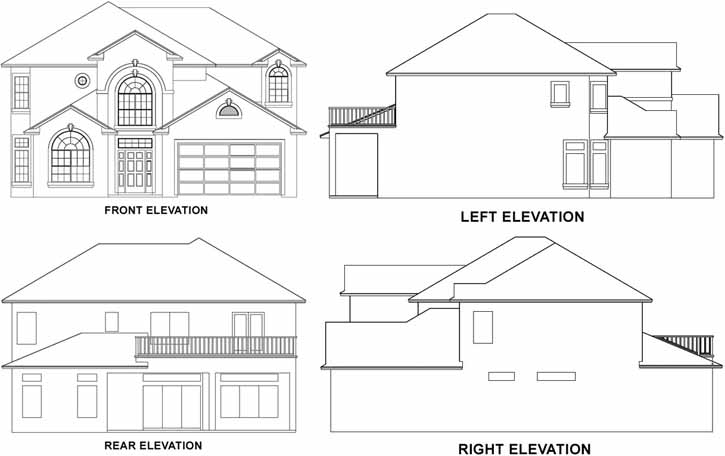 Rear Elevation Plan: 71-367