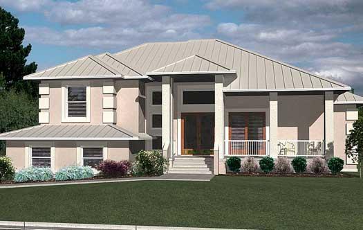 Mediterranean Style Home Design Plan: 71-414