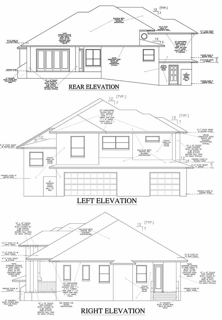 Rear Elevation Plan: 71-414