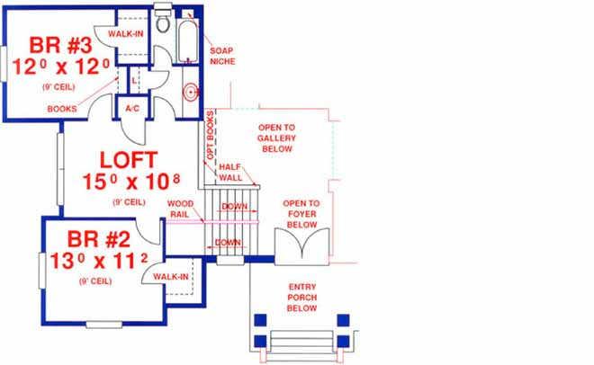 Upper/Second Floor Plan: 71-414